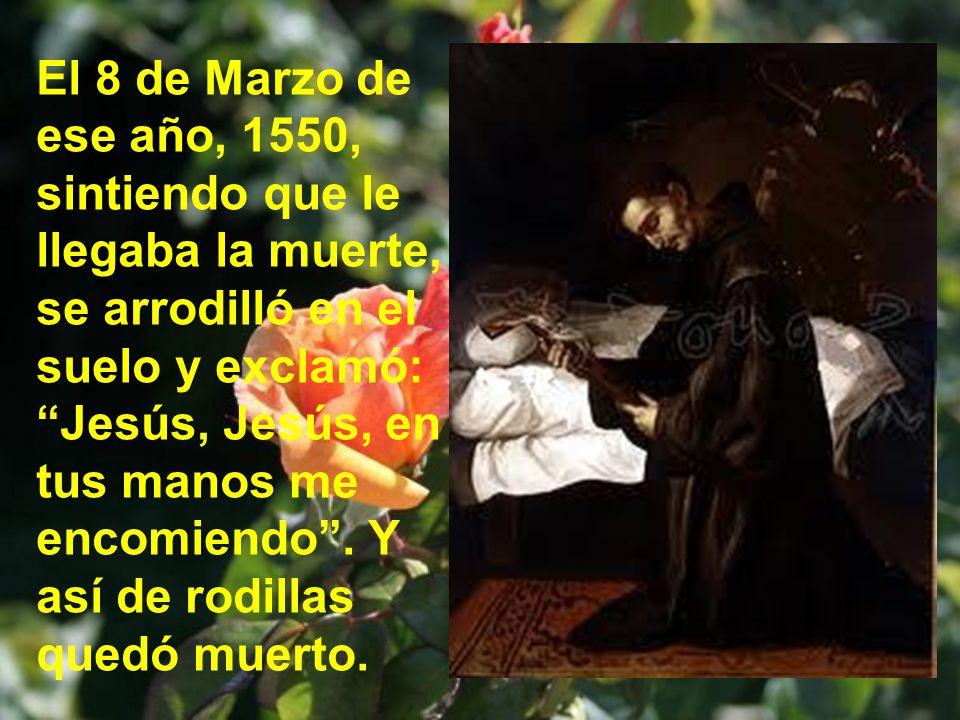Cuando el santo llegó a la casa de la señora rica dijo: Estas comodidades son demasiado lujo para mí, que soy tan miserable pecador. No tuvo más remed