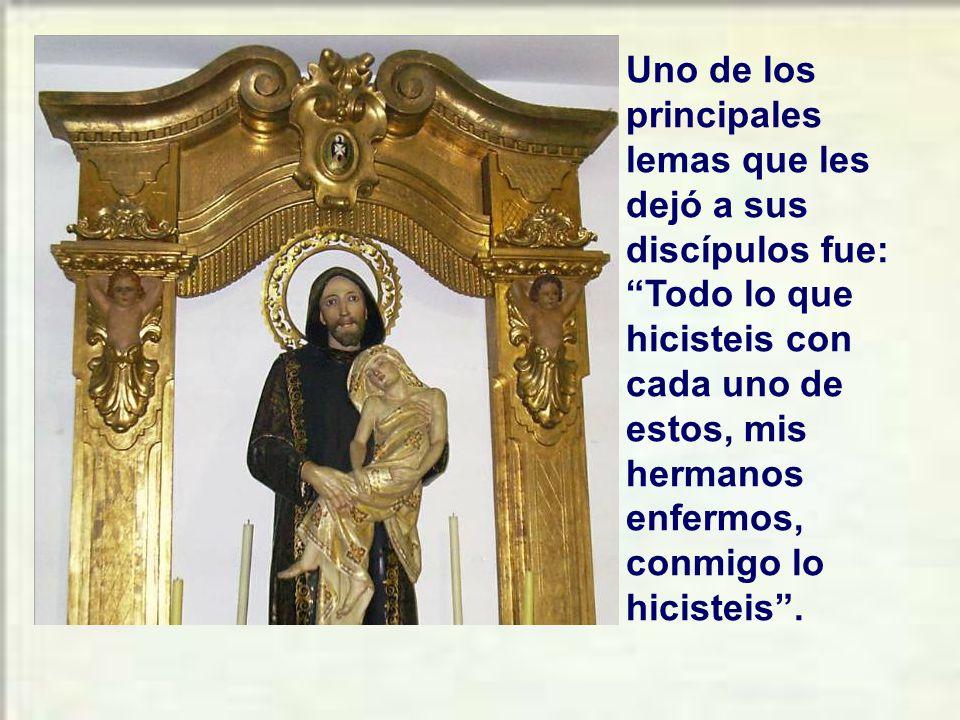 San Juan de Dios nos enseña tener atención integral a la persona necesitada, respetando su dignidad y defendiendo sus derechos.
