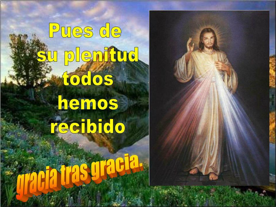 Juan da testimonio de él y grita diciendo: El que viene detrás de mí pasa delante de mí, porque existía antes que yo.