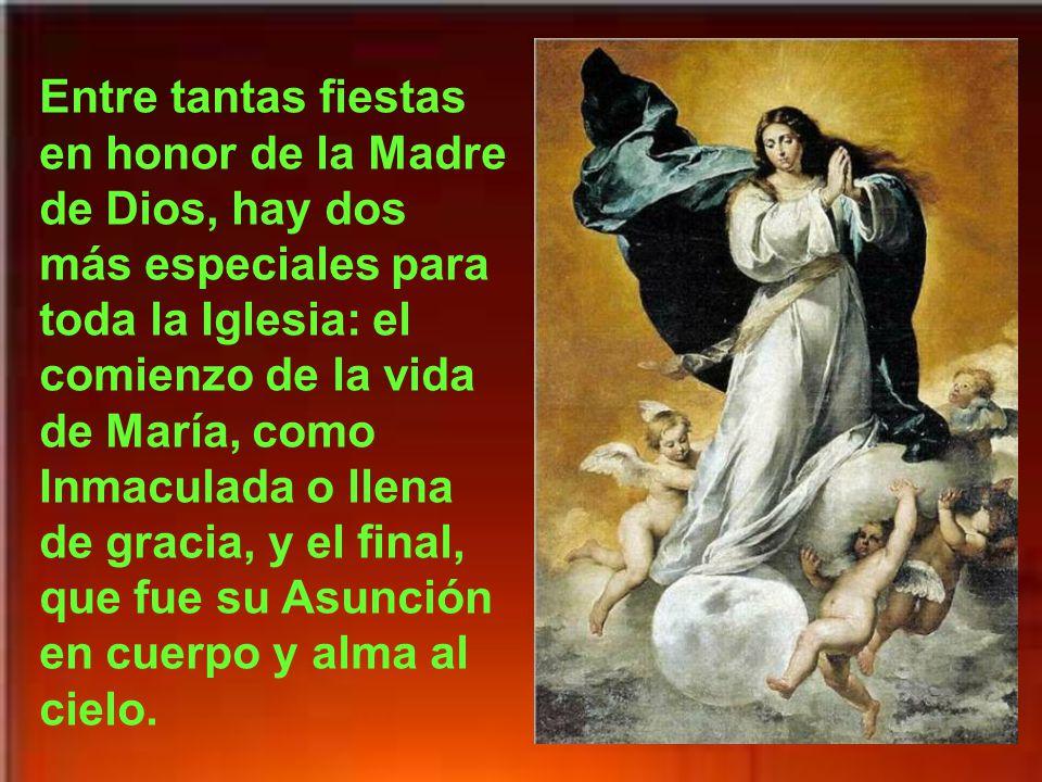 Hoy nos alegramos con toda la Iglesia por ser una fiesta muy especial de nuestra Madre, la Stma. Virgen María.