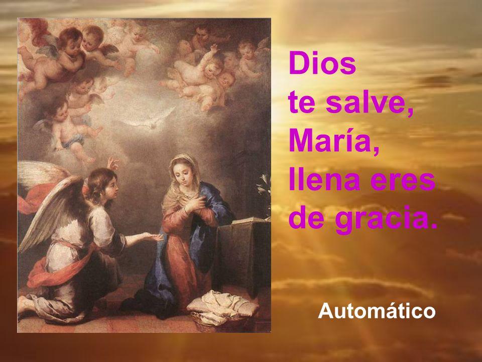 Y, como María vela por sus hijos desde el cielo, terminamos saludándola, como el ángel, y pidiendo que ruegue por nosotros ahora y en la hora de nuest