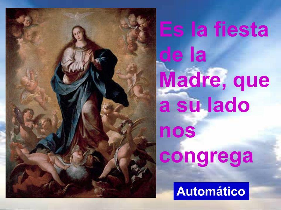 En este día de la Inmaculada, gran fiesta de María, en varios países celebran el día de la madre. Comencemos cantando jubilosos a la madre de Dios, pu