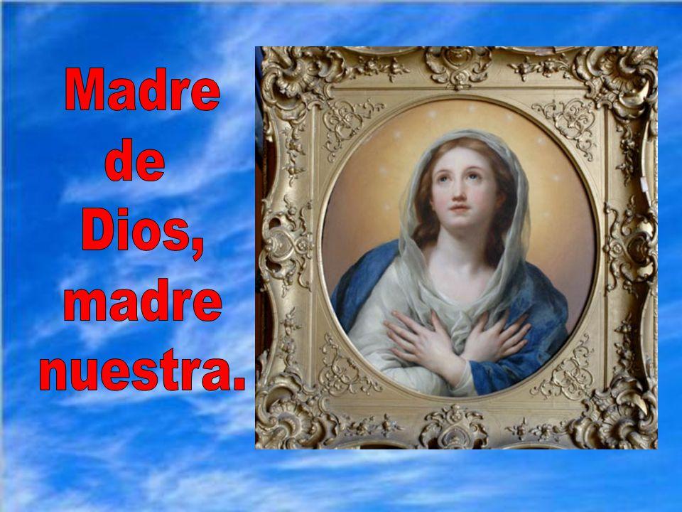 Y, como María vela por sus hijos desde el cielo, terminamos saludándola, como el ángel, y pidiendo que ruegue por nosotros ahora y en la hora de nuestra muerte.