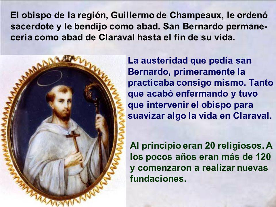 Salió san Bernardo con un grupo de monjes en manos de la Providencia divina. Varios eran de la misma familia. El día 25 de Junio de 1115 llegaron a un