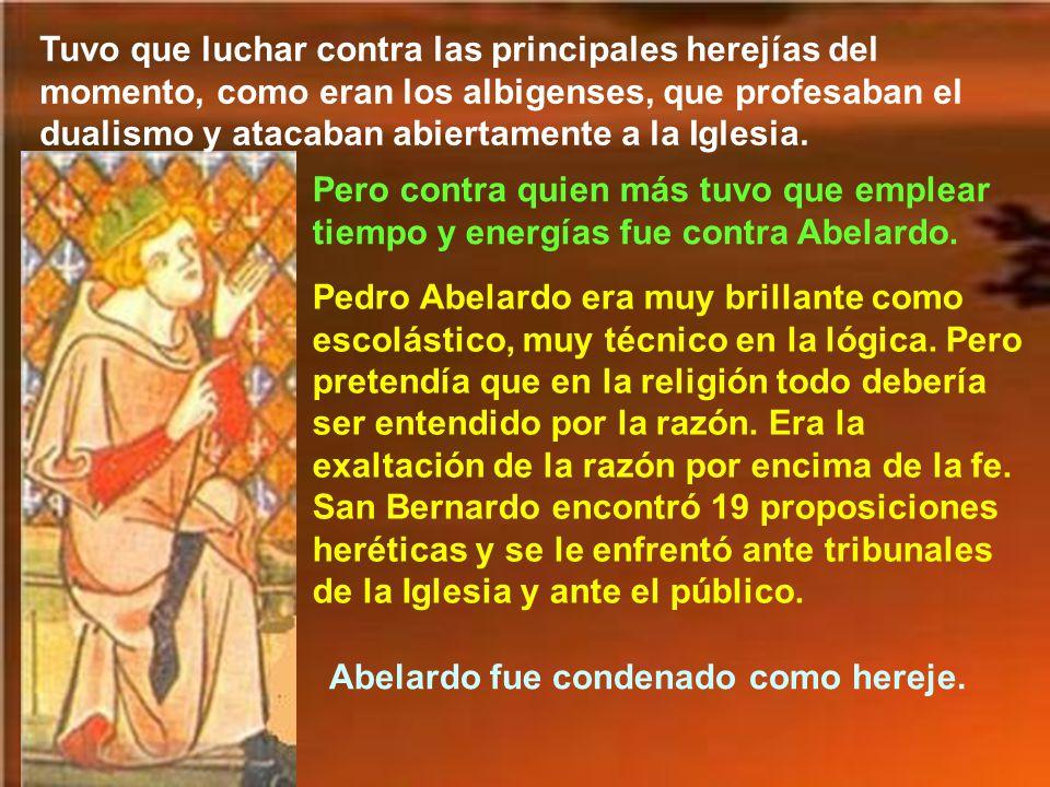 En 1130, por causa del cisma del antipapa Anacleto, tuvo que emprender una actividad pública para defender al papa Inocencio II. Al morir el papa Hono