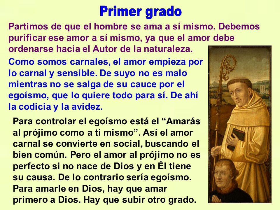 Algo muy importante en la doctrina espiritual de san Bernardo es lo relacionado con el amor a Dios. El amor a Dios debe ser puro y desinteresado, que
