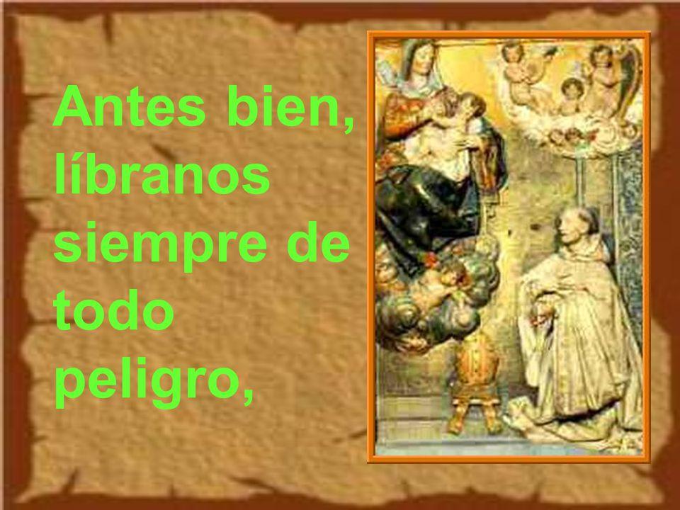 Salió san Bernardo con un grupo de monjes en manos de la Providencia divina.