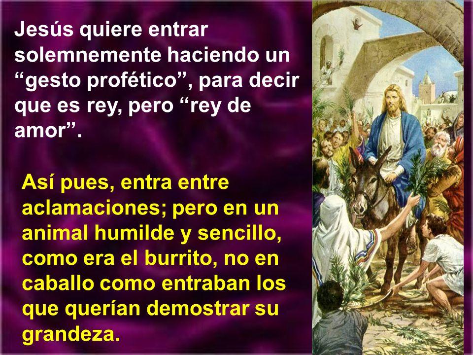 De modo parecido pensaban los apóstoles, espe- cialmente Judas. Para ellos la entrada de Jesús era la ocasión propicia para la exaltación como rey, de