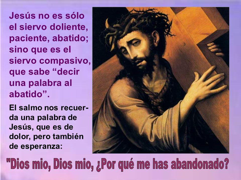 Y viene la segunda parte, que es la misa propia- mente dicha, con la tonalidad del anuncio de la pasión de Jesucristo.