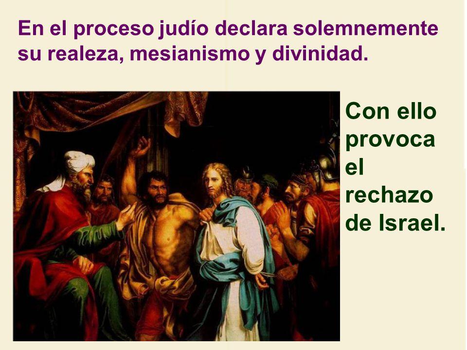 En el arresto manifiesta Jesús su amor por el perdón y la no violencia. Le dice a Pedro: Envaina la espada. Jesús sólo quiere vencer por el amor. no c