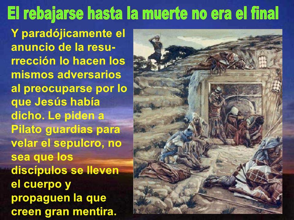 Jesús muere rechazado por los hombres y aparentemente rechazado por Dios.