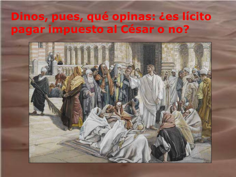 Dinos, pues, qué opinas: ¿es lícito pagar impuesto al César o no?