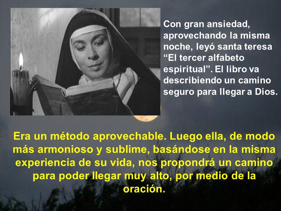 Esta vez es El tercer alfabeto espiritual de Francisco de Osuna. Este libro sí sería básico en la formación espiritual de santa Teresa.