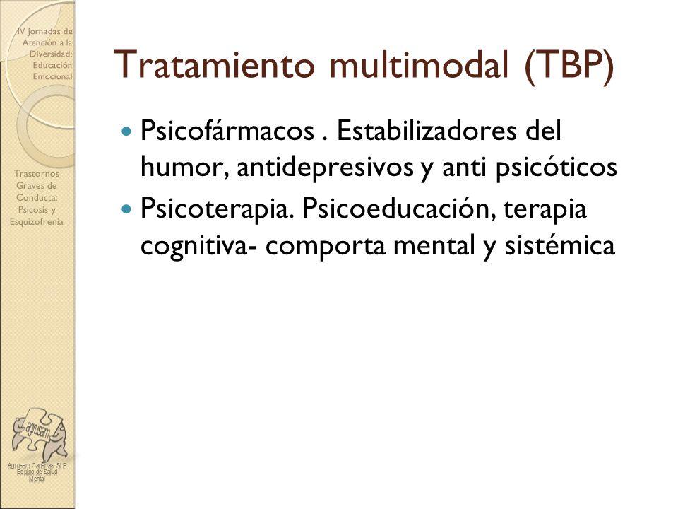 Trastornos Graves de Conducta: Psicosis y Esquizofrenia IV Jornadas de Atención a la Diversidad: Educación Emocional Tratamiento multimodal (TBP) Psic
