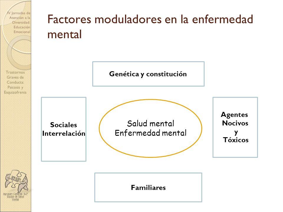Trastornos Graves de Conducta: Psicosis y Esquizofrenia IV Jornadas de Atención a la Diversidad: Educación Emocional Factores moduladores en la enferm