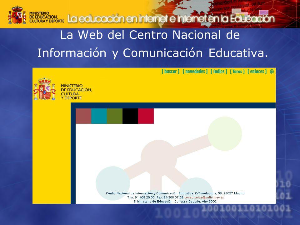 La Web del Centro Nacional de Información y Comunicación Educativa.