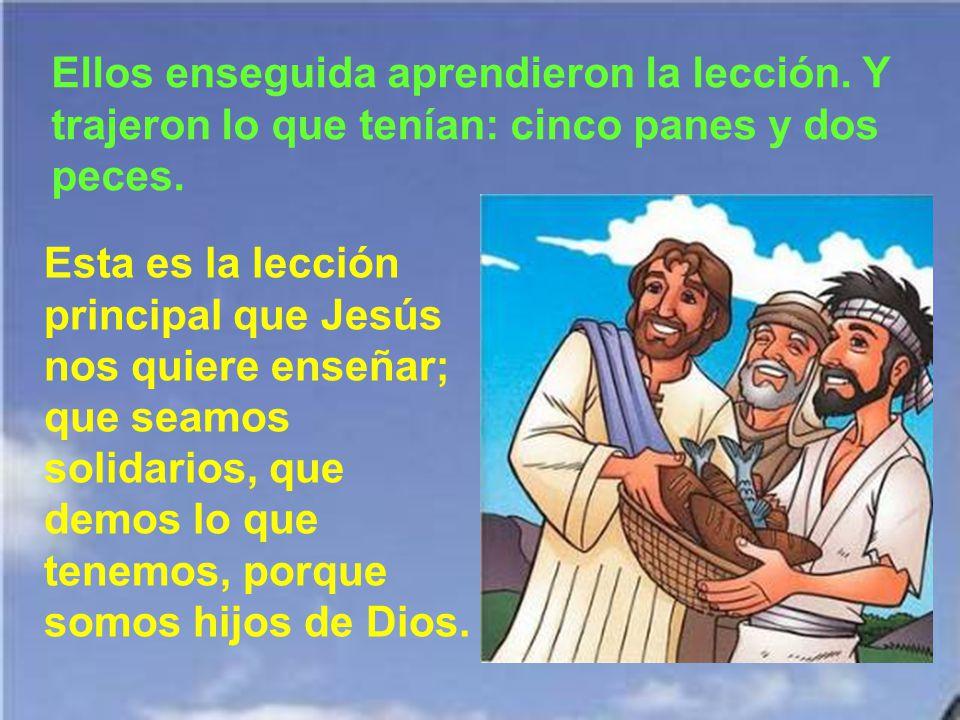 Jesús podría haber hecho maravillas: o que no tuvieran hambre o que bajasen del cielo panes u otros alimentos, como cuando el maná en el desierto. Per