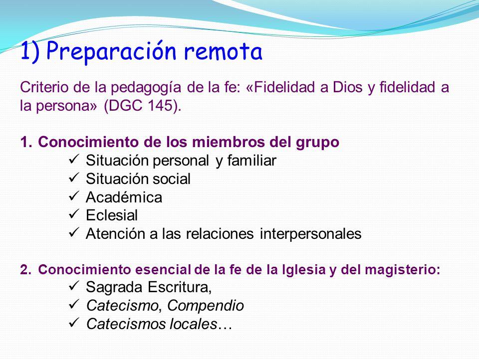 4) Revisión y evaluación Toda sesión de catequesis debe ser revisada y comentada, personalmente y por el grupo de catequistas: Nuestra actitud de cara a los catequizandos.
