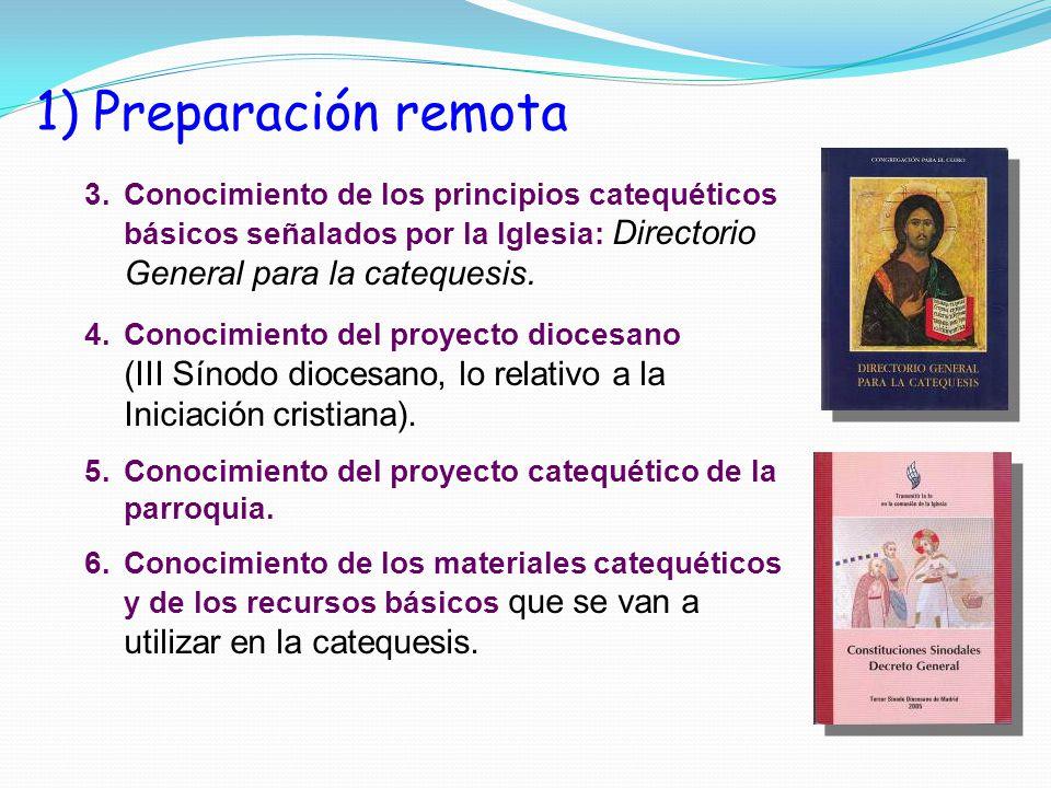 3.Conocimiento de los principios catequéticos básicos señalados por la Iglesia: Directorio General para la catequesis.