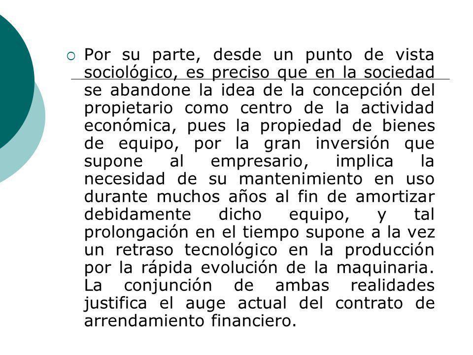 Por su parte, desde un punto de vista sociológico, es preciso que en la sociedad se abandone la idea de la concepción del propietario como centro de l