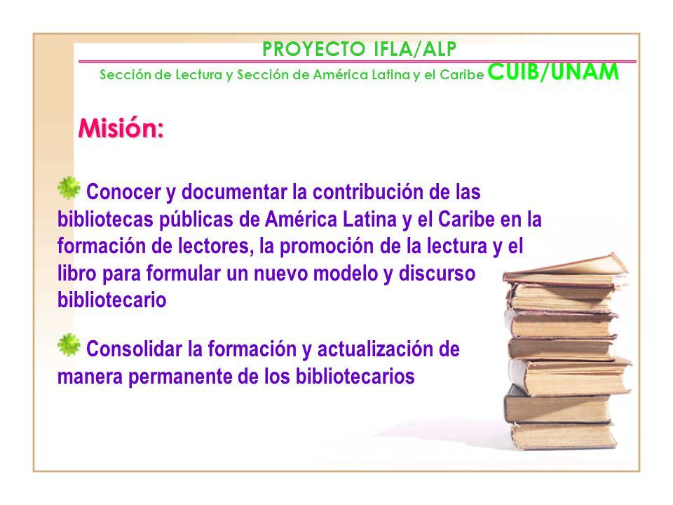 Conocer las actividades de fomento a la lectura que realiza la biblioteca pública intra y extramuros, además la creación de puntos para acceder al lib