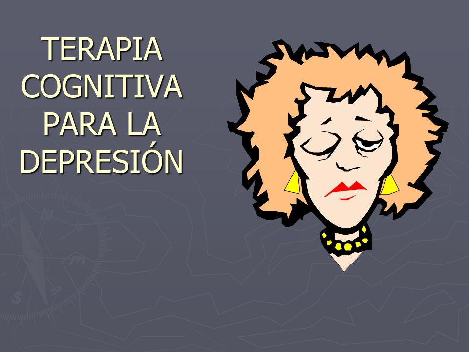 TERAPIA TERAPIA COGNITIVA PARA LA DEPRESIÓN
