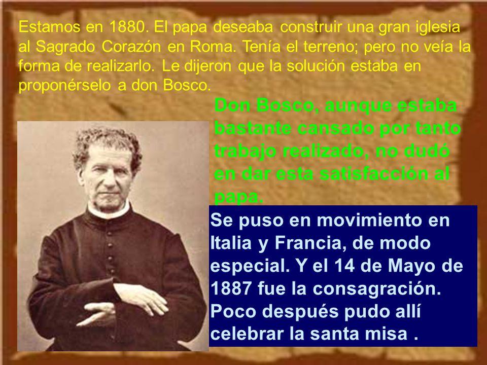 Uno de los grandes pilares de su vida e institución era la Sagrada Eucaristía.