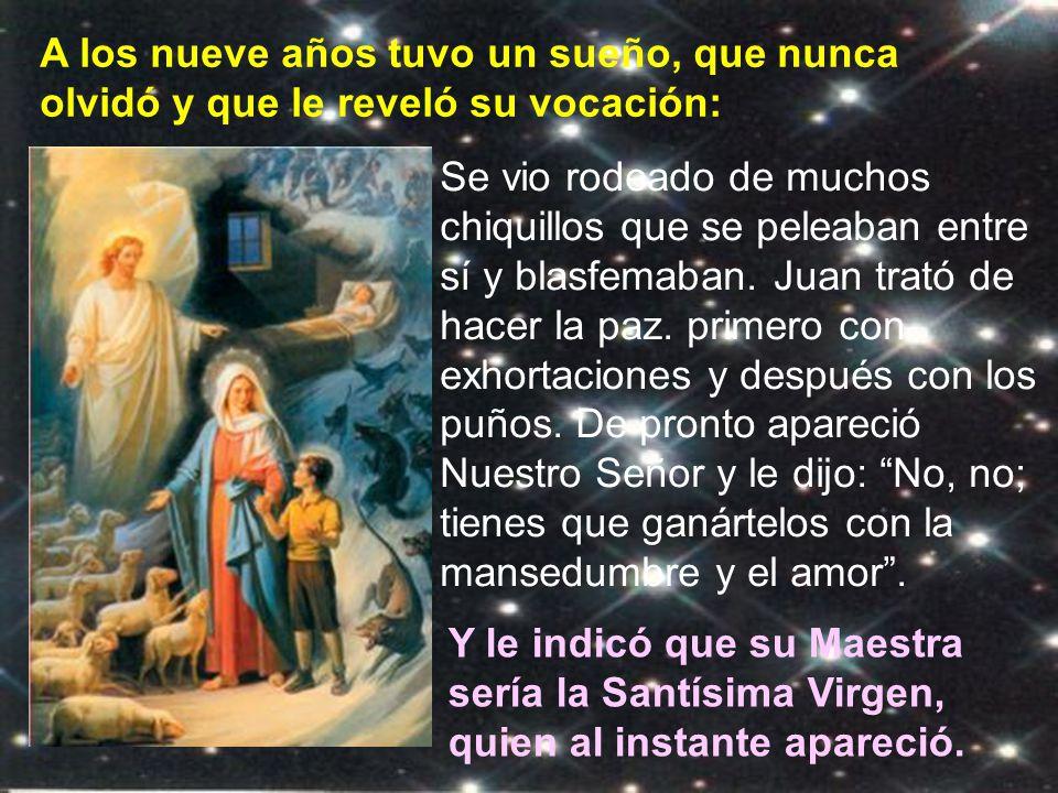 Don Bosco es corazón tan grande como el mar; su vida fue un constan- te caminar,