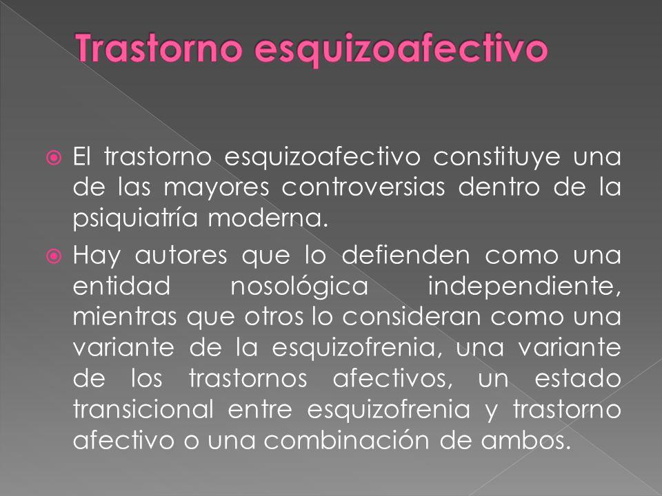 El trastorno esquizoafectivo constituye una de las mayores controversias dentro de la psiquiatría moderna.