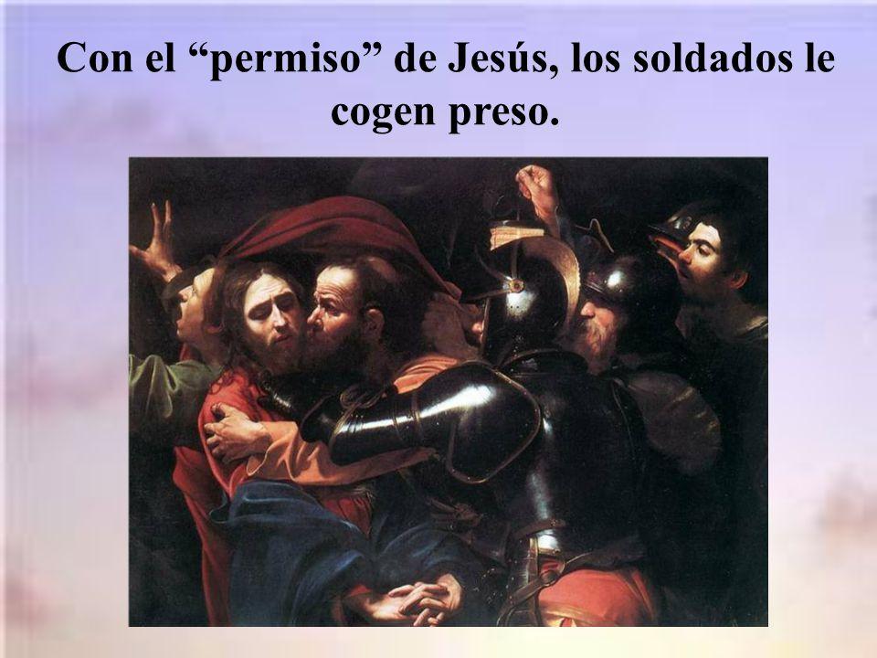 Jesús les pregunta: a quién buscan.Y ellos responden que a Jesús Nazareno.