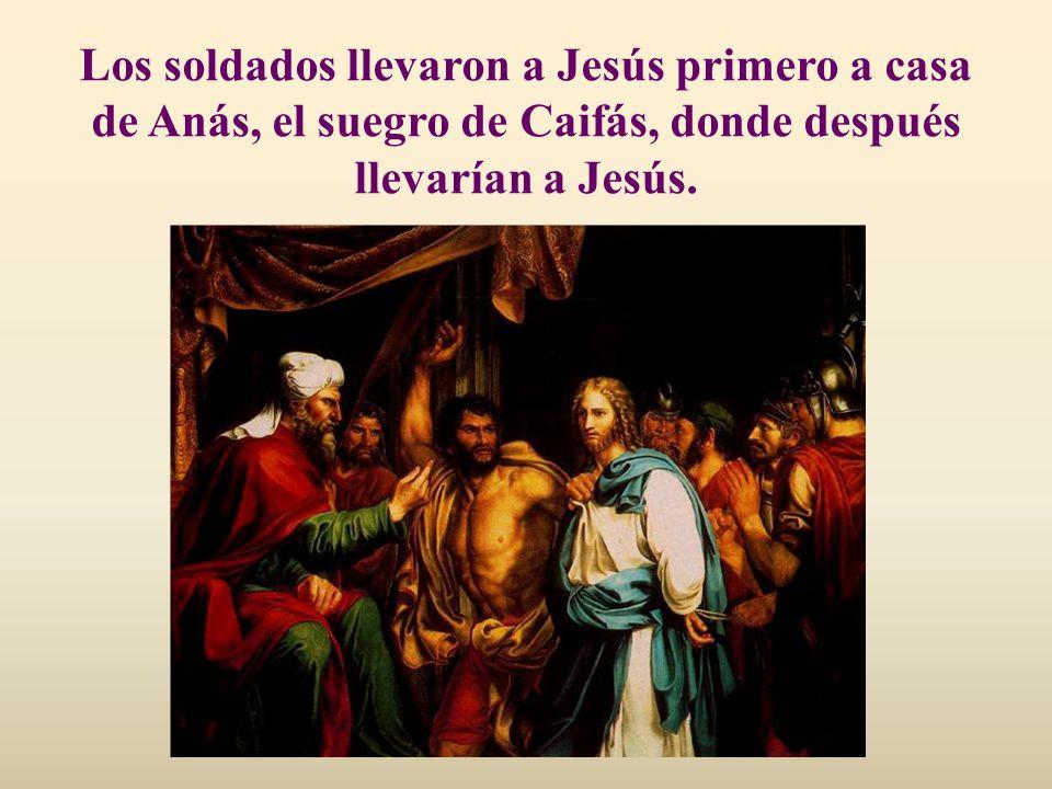Pedro corta la oreja de un criado del pontífice; pero Jesús le manda que no use la espada.