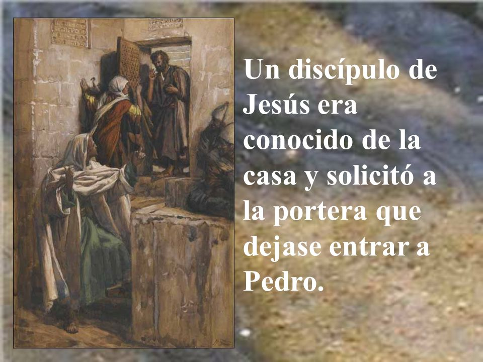 Los soldados llevaron a Jesús primero a casa de Anás, el suegro de Caifás, donde después llevarían a Jesús.