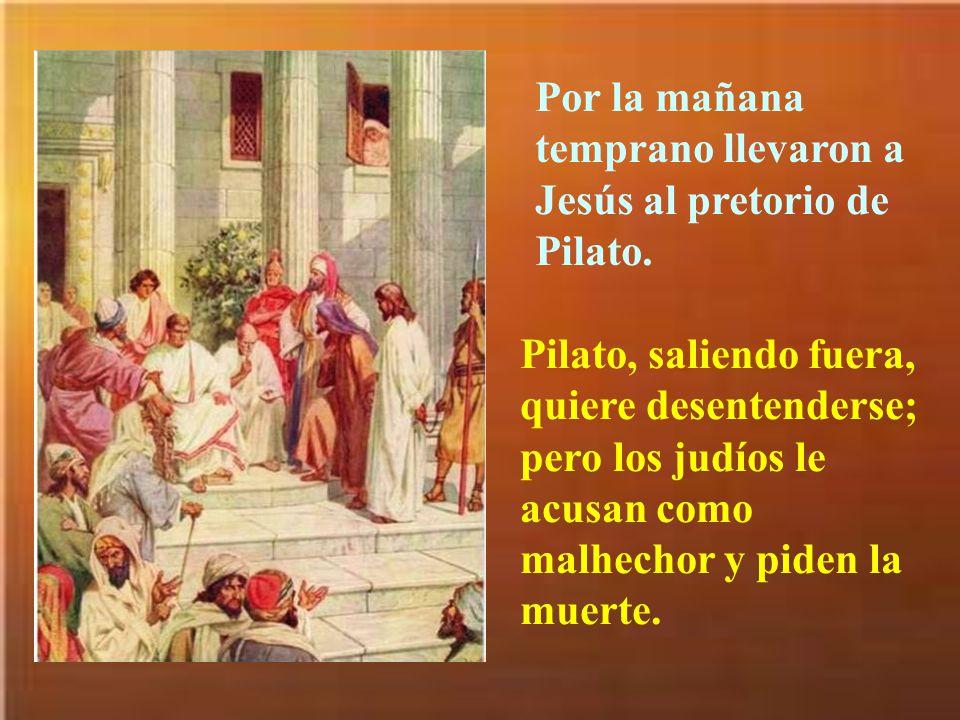 Primero una criada y luego otros que se estaban calentando en el patio acusaron a Pedro de ser discípulo de Jesús.