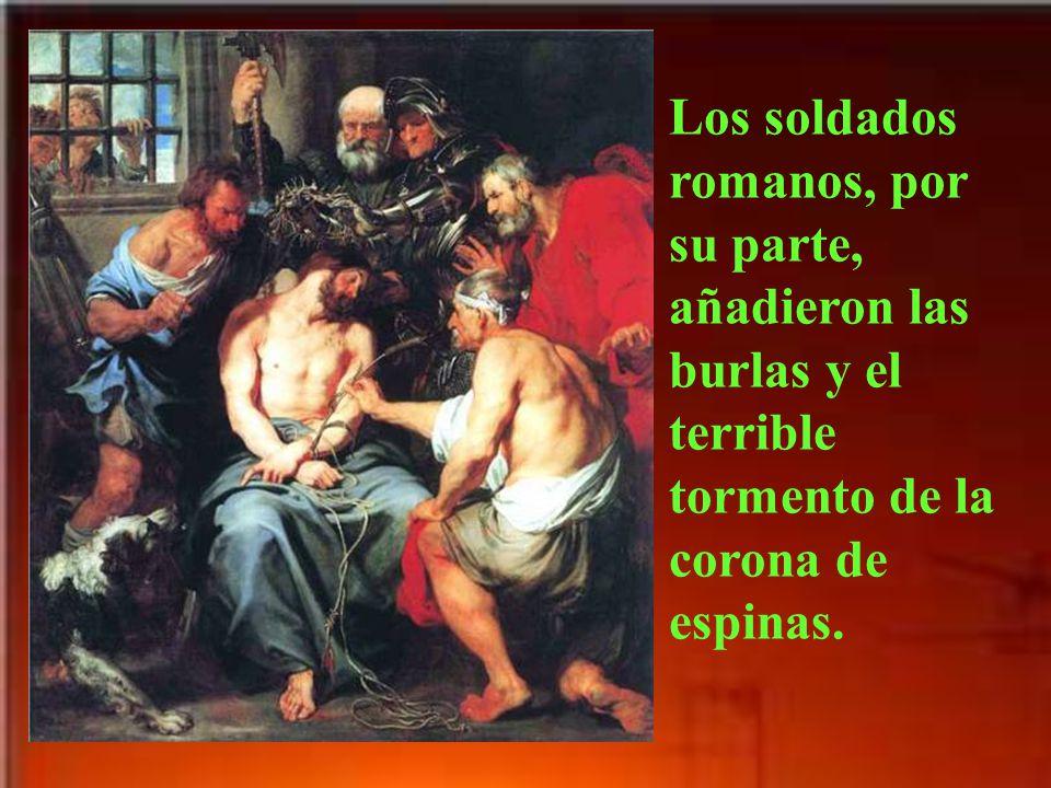 Pilato, quizá por querer complacer sólo en parte a los judíos, manda azotar a Jesús.