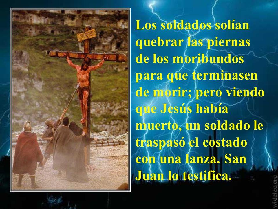Después dijo Jesús: Todo está cumplido. E inclinando la cabeza. entregó el espíritu.