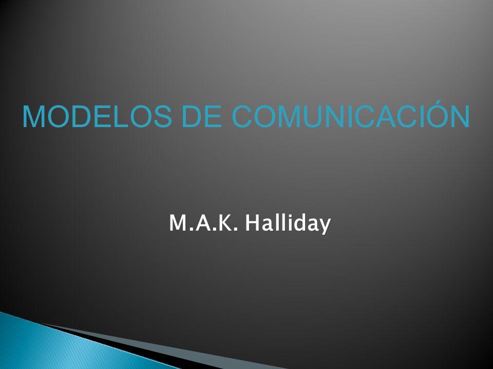MODELOS DE COMUNICACIÓN M.A.K. Halliday
