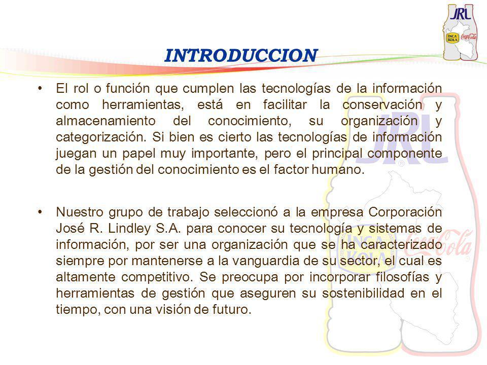 INTRODUCCION El rol o función que cumplen las tecnologías de la información como herramientas, está en facilitar la conservación y almacenamiento del