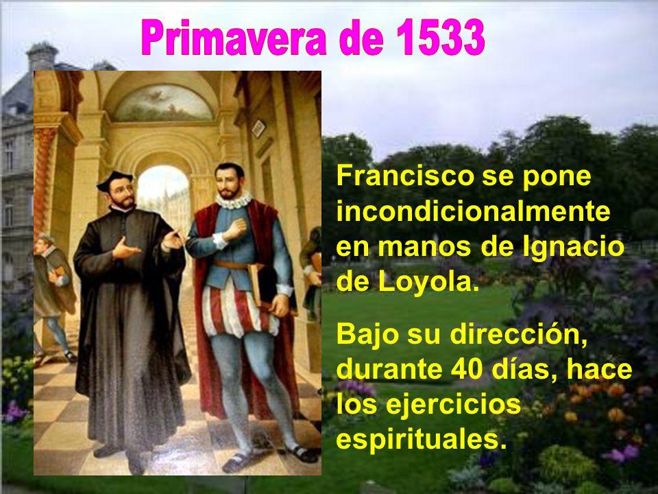 Íñigo (san Ignacio), con paciencia, habilidad y ejemplos personales le fue llevando a Dios, especialmente con esta frase repetida:
