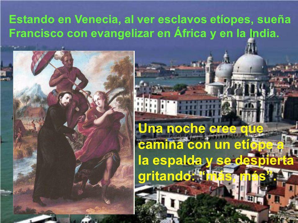 Como habían prometido ir a Tierra Santa, se reúnen en Venecia, ahora ya con Ignacio, para esperar una embar- cación que les lleve.