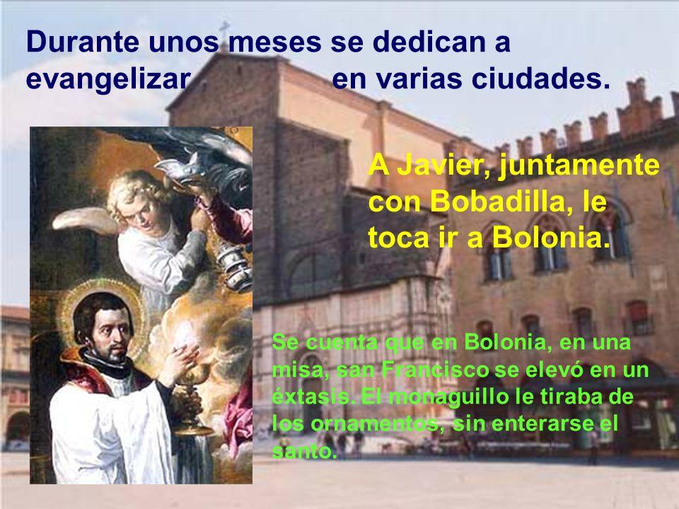 Como no pueden ir a Tierra santa por la guerra entre Venecia y los turcos, deciden ir a Roma a recibir la bendición del papa. Necesitan también gestio