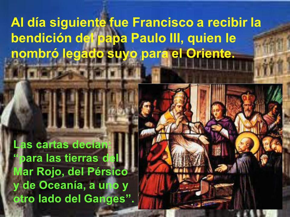 A principios de 1540, el embajador de Portugal pide a Ignacio algunos de los suyos para ir a las Indias Orientales. Son elegidos el portugués Simón Ro