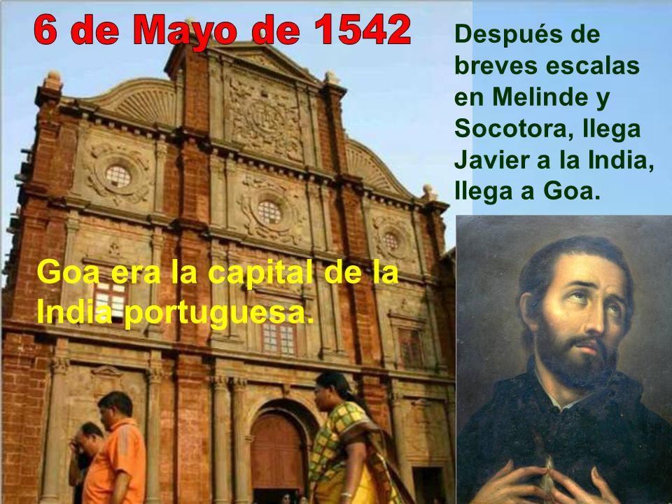 Después de varios meses de navegación, llegaron a Mozambique el 22 de Septiembre. Allí tuvo que estar hasta finales de Febrero de 1542. Evangelizó; pe