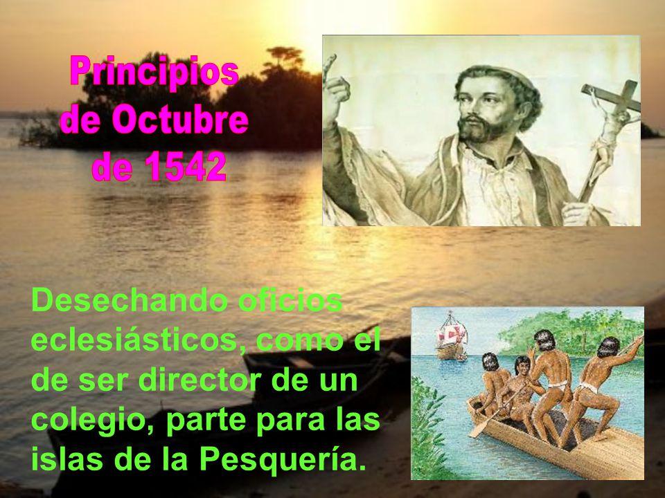 Lo primero que hizo fue transcribir un pequeño catecismo portugués. Luego: asistir a moribundos, visitar presos en la cárcel, socorrer a pobres. Y esp