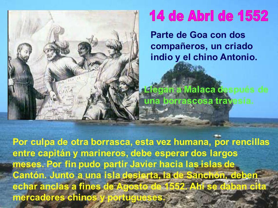 Estando en Bungo se entera de graves sucesos en las misiones de la India y decide volver. Era Noviembre de 1551. Con tres compañeros embarca rumbo a M