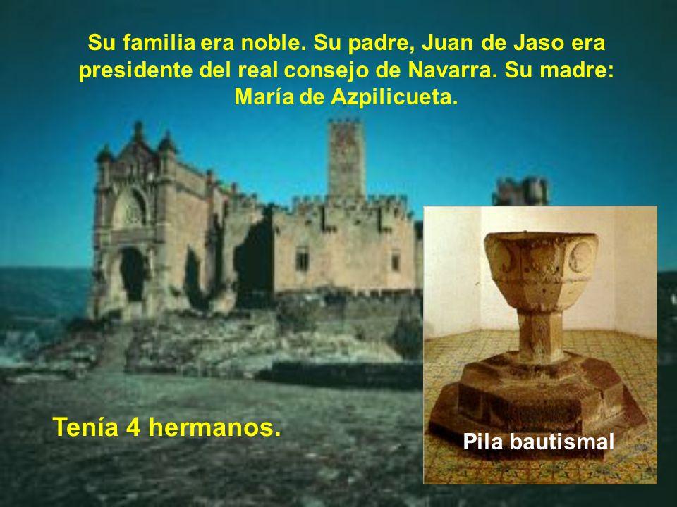 Su familia era noble.Su padre, Juan de Jaso era presidente del real consejo de Navarra.