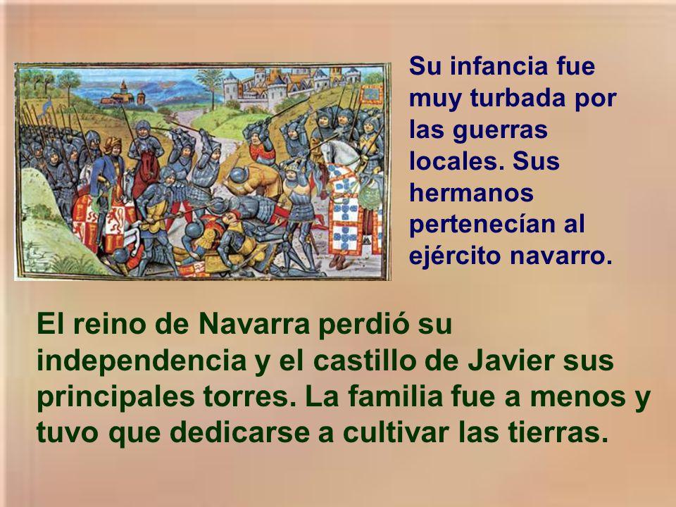 Su familia era noble. Su padre, Juan de Jaso era presidente del real consejo de Navarra. Su madre: María de Azpilicueta. Tenía 4 hermanos. Pila bautis