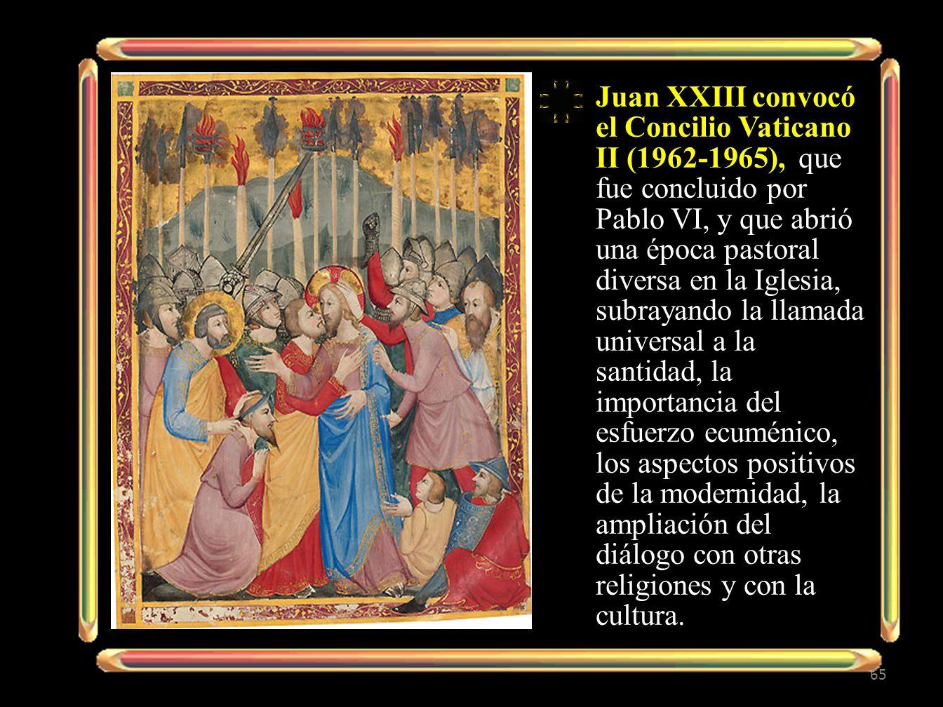 Juan XXIII convocó el Concilio Vaticano II (1962-1965), que fue concluido por Pablo VI, y que abrió una época pastoral diversa en la Iglesia, subrayan