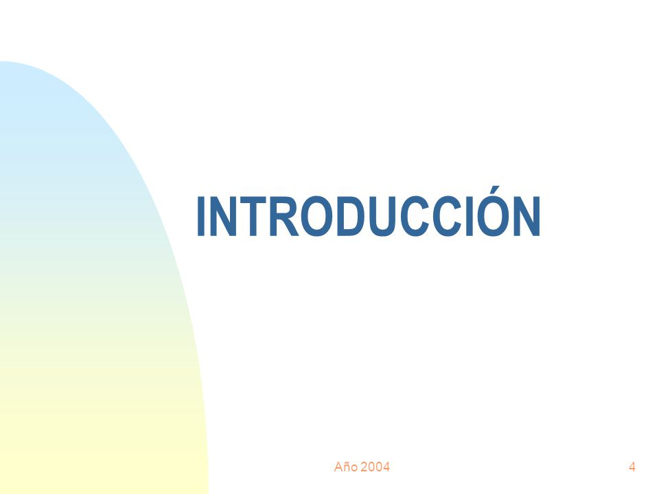 Año 20044 INTRODUCCIÓN