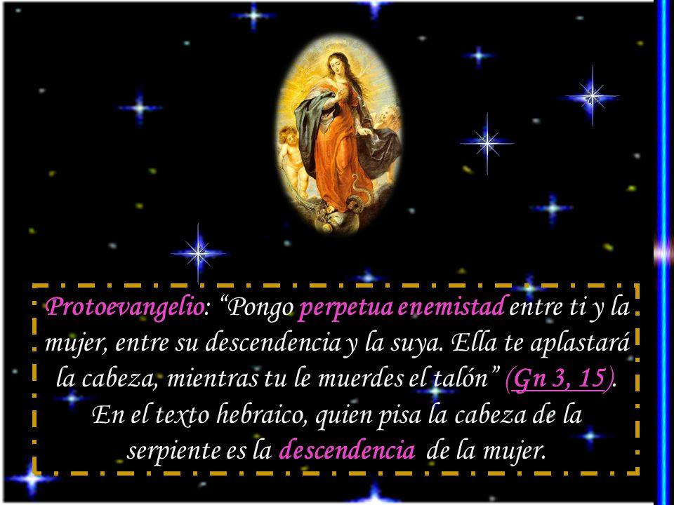 Los Padres advierten que las palabras de Isabel a María, en la Visitación (bendita tú entre las mujeres y bendito el fruto de tu vientre), dan a entender que María fue la sede de todas las gracias divinas y que fue adornada con todos los carismas del Espíritu Santo, al extremo de no haber estado nunca bajo el poder del mal.