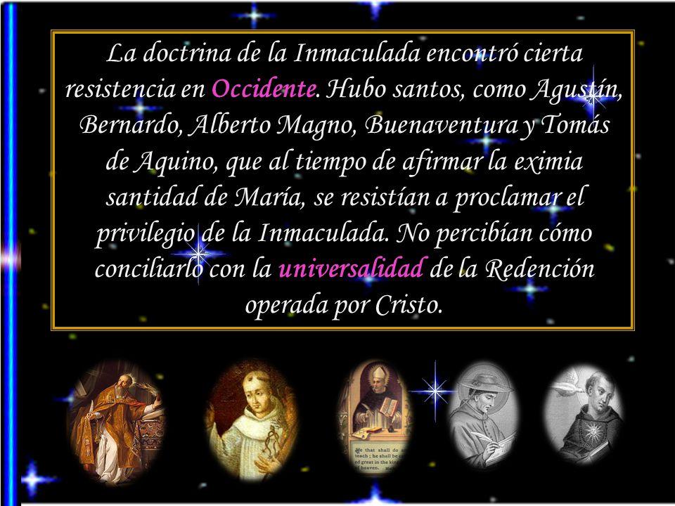 Pío XII, Fulgens corona: Si en un momento determinado la santísima Virgen María hubiera quedado privada de la gracia divina, por haber sido contaminad